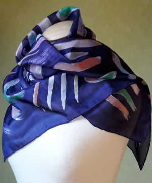 Clarsàch hand-painted pure silk scarf